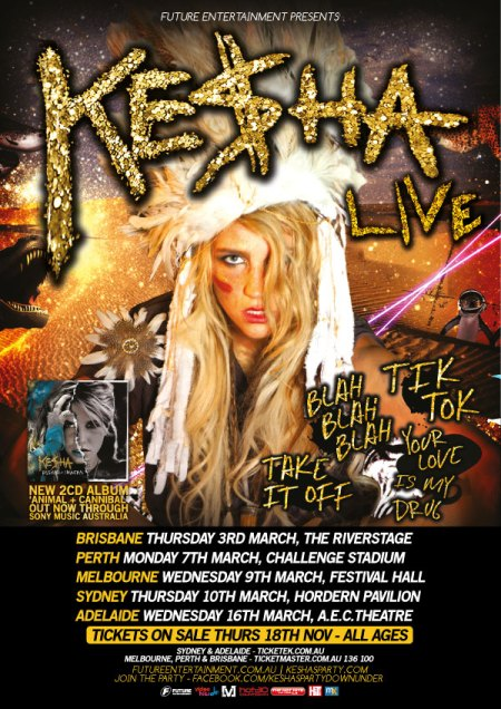 Ke$ha Australian Tour 2011 WIN